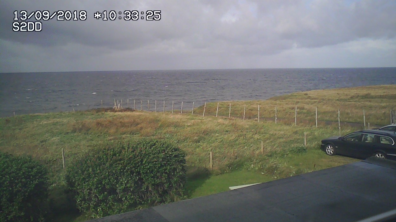 Webcam showing the view from Ceol na Mara, self-catering chalet in Wester Ross, Highland